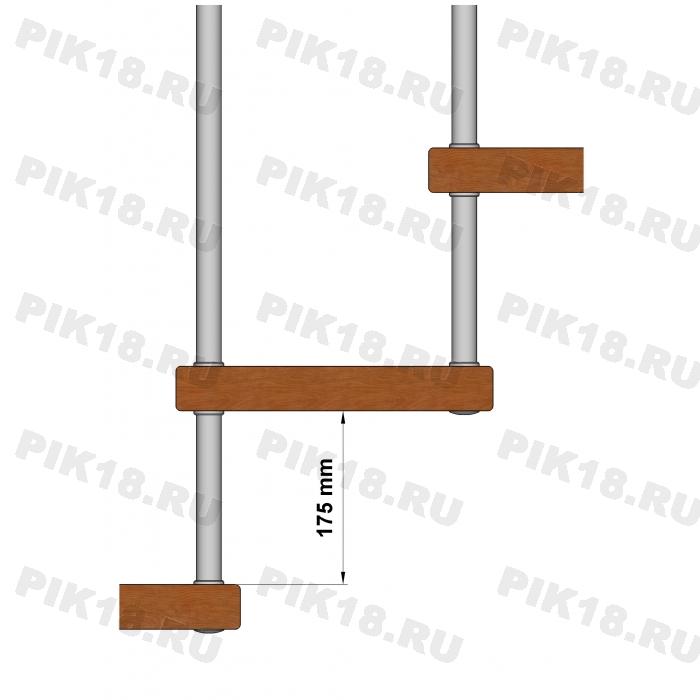 Больц Ø25мм под стойку, шпилька М10 (175мм)