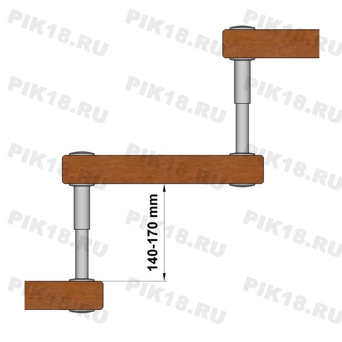 Больц регулируемый Ø25/ Ø20мм, шпилька М12 (140-170мм)