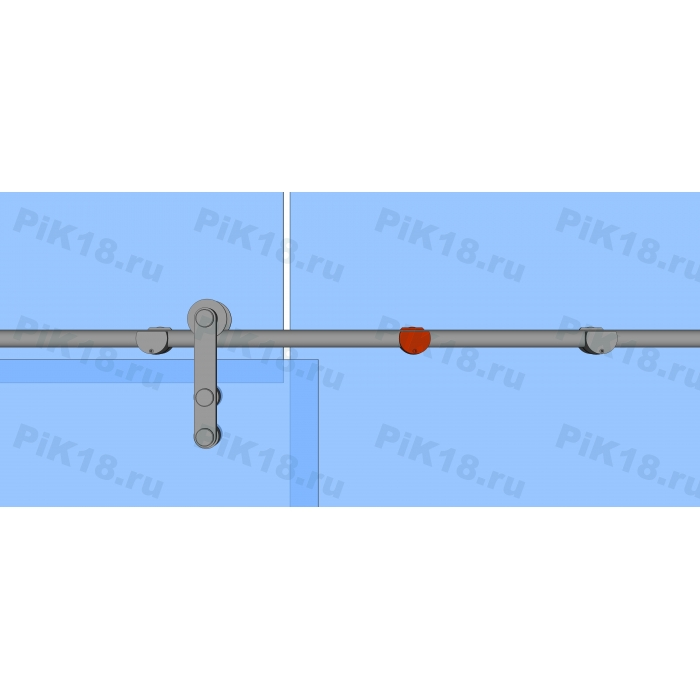 Крепление трека Ø25мм к стеклу, под зенковку