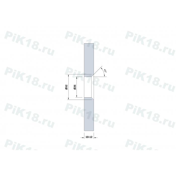 Крепление стекла к полу нерегулируемое 75мм, под зенковку