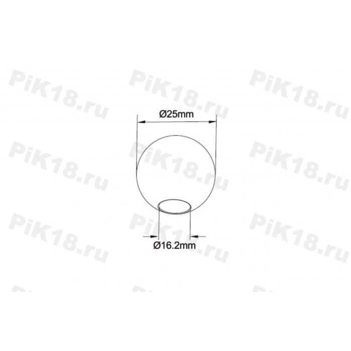 Заглушка сферическая для трубы 16мм