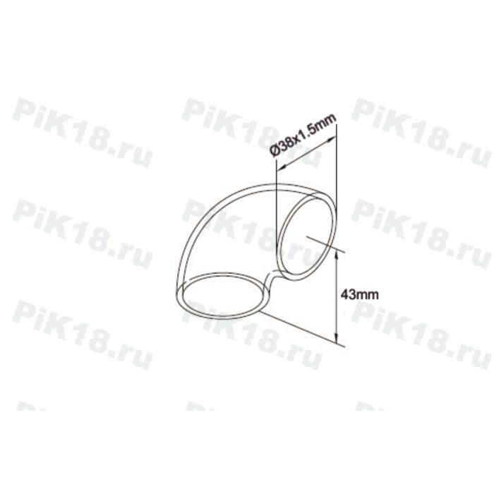 Отвод трубы 38x1,5мм на 90˚ под сварку (AISI 304)