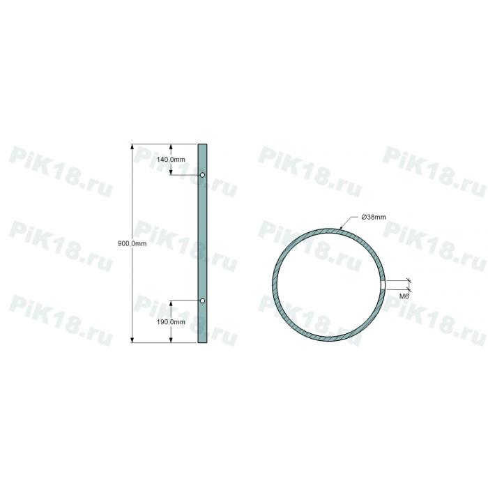 Стойка 38мм под стекло конечная (AISI 304)