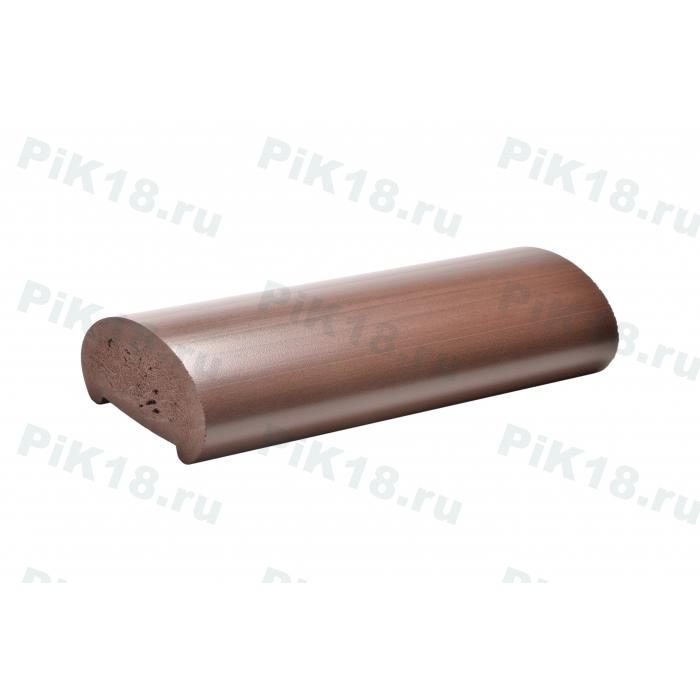 Фигурный поручень ПВХ, темный орех (венге)