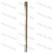 Стойка 40x40мм под стекло конечная (AISI 201)