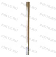 Стойка 40x40мм под стекло промежуточная (AISI 201)