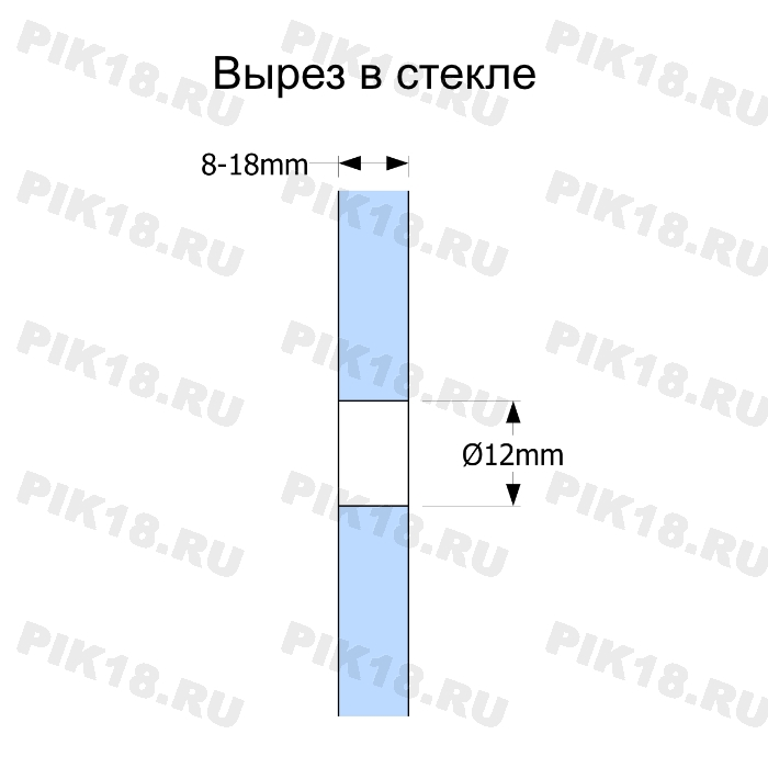 Стеклодержатель «Точка» круглый Ø50мм