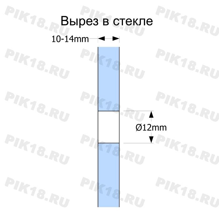 Стеклодержатель «Точка» квадратный 40x40мм